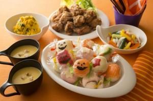 ハロウィンてまり寿司